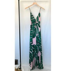 Express Strappy Tropical Dress